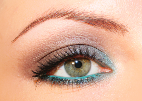 make up marrone e verde