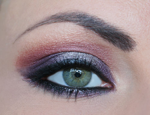 make up viola e grigio