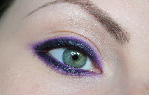 make up viola e nero