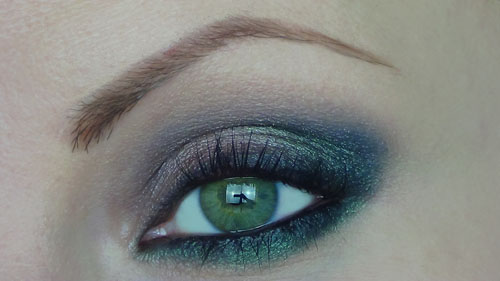 make up occhi verde e marrone