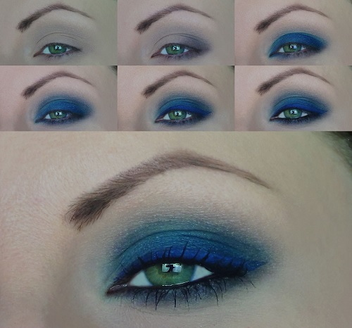 smokey eyes blu tutorial