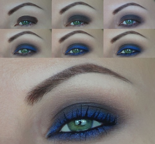 trucco marrone e blu tutorial