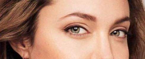 make up occhi infossati Angelina Jolie