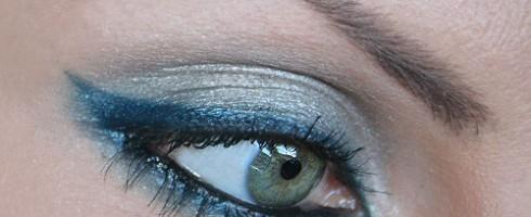make up occhi petrolio e argento