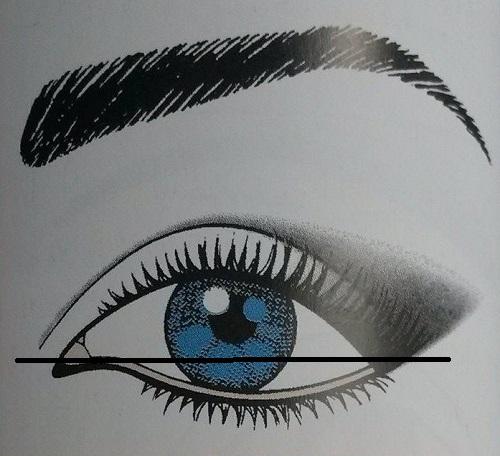 trucco occhi verso il basso
